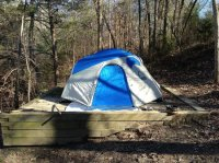 Elevated tent pad - Picture of Lake Hartwell State Park ...