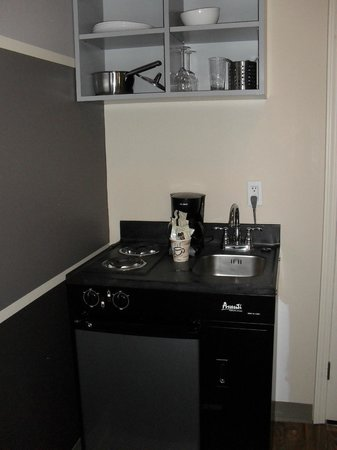 Small Kitchen Fridge And Two Stove Plates Picture Of Hotel