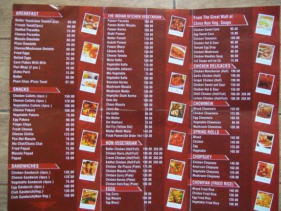 Menu Card - Picture of Hotel R. Maidens, Kasauli - Restaurant ...