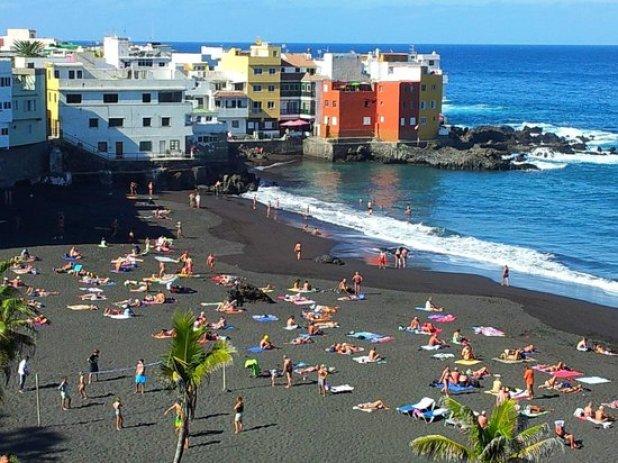 Playa Jardin - Puerto de la Cruz - Tenerife - vista verso Punta ...