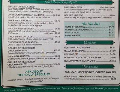 Lunch menu - Picture of Montagu Gardens Steak & Grill ...