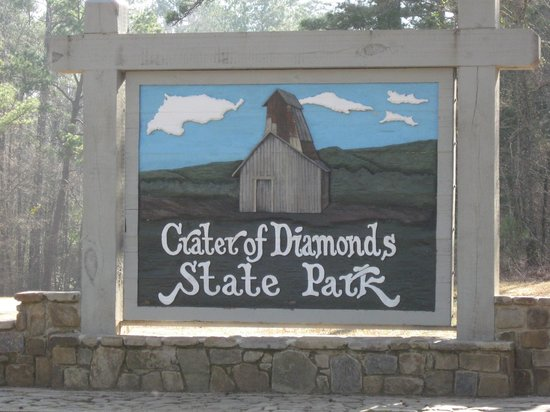 Crater of Diamonds sign - Picture of Murfreesboro, Arkansas