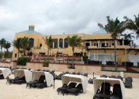 Covered Beach Chairs and - Picture of Royal Hideaway ...