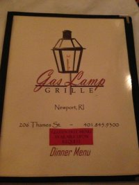 Menu - Picture of The Gas Lamp Grille, Newport - TripAdvisor