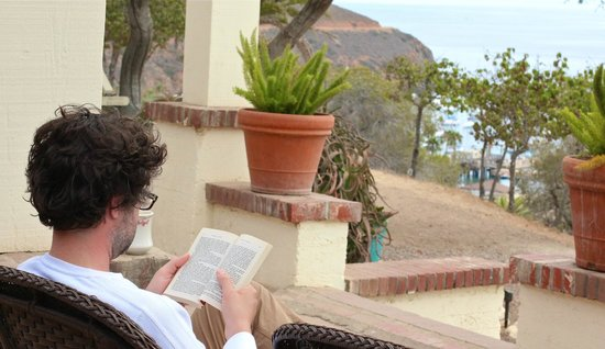 Reading on the porch! - Picture of Banning House Lodge, Two Harbors - TripAdvisor