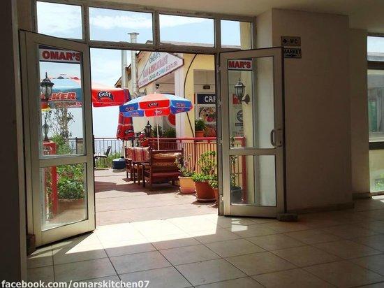 Terminal entrance door  Picture of Omars Kitchen Kalkan