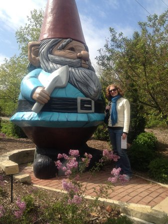 Giant Garden Gnome Picture Of Reiman Gardens Ames