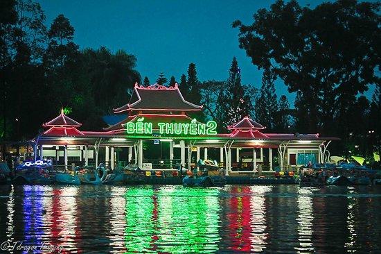 Dam Sen Park boat ride  Picture of Dam Sen Water Park Ho