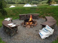 Fire pit - Picture of Tepee Valley Campsite, Armagh ...