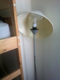 broken lamp shade - Picture of City Centre Hostel ...