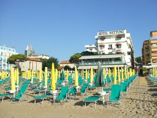 Hotel dalla spiaggia  Foto di Hotel Nettuno Jesolo  TripAdvisor