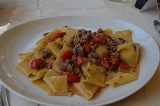 salsicce di cinta fatte in casa  Picture of Ristorante  Albergo Sella Abbadia San Salvatore