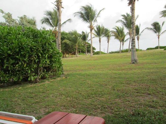 Picture out our front door!! Bay is over the doon. - Club Orient Resort. Orient Bay - TripAdvisor