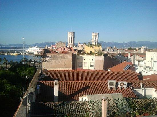 un squarcio della vista dalla magnifica terrazza  Picture of La Terrazza Sul Porto Cagliari
