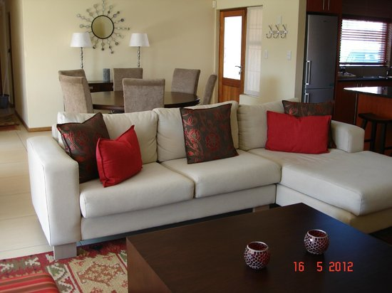 Lounge and dining room area with open plan kitchen