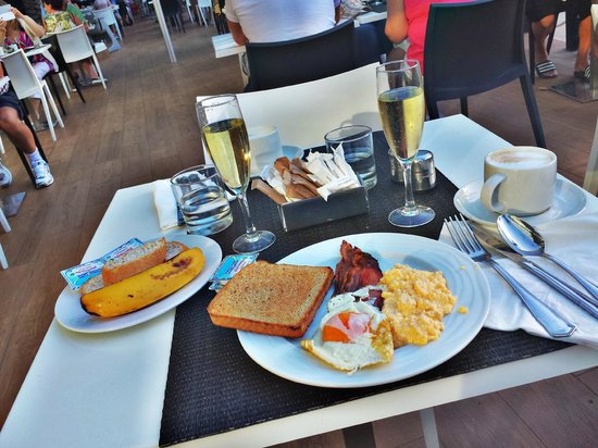 breakfast on terace - Picture of Mediterranean Palace ...