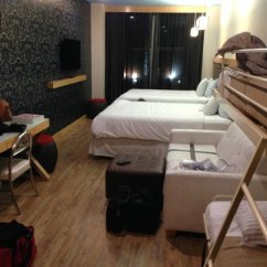 Square Sofa Beds Cat Proof Cover Family Room With Two Bunks Bed And Queens Picture Of Tryp New York City Times South