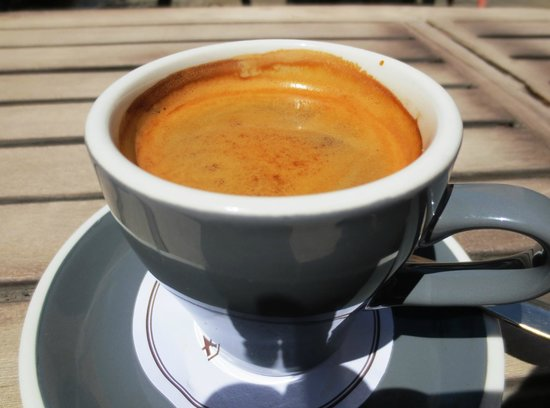 Allpress long black coffee  Picture of Melbourne Cafe