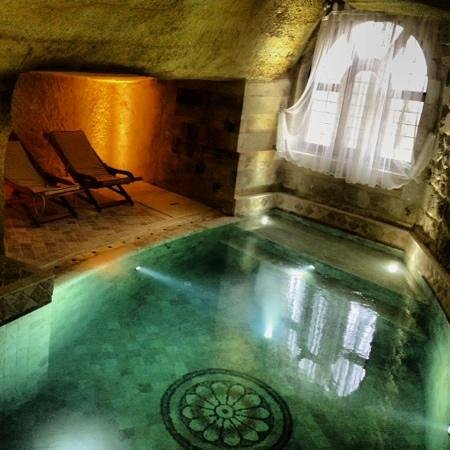 Awesome private pool inside cave suite 108  Picture of