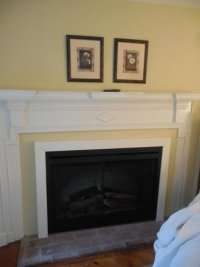 Fake fireplace - for decoration only (with paper logs ...