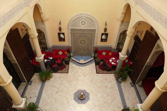 Lobby From Our Room Picture Of Riad Ibn Battouta Fes