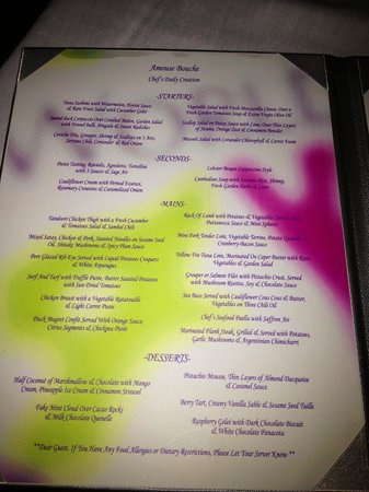 Menu Picture Of Secrets Maroma Beach Riviera Cancun