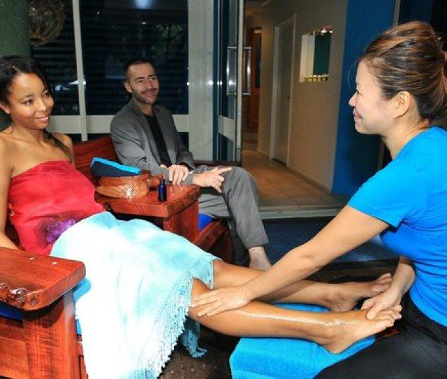 Oiled Massage Cairns Foot Massage After Hiking Around Green Island