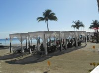 Beach chairs with cabana cover - Picture of Temptation ...