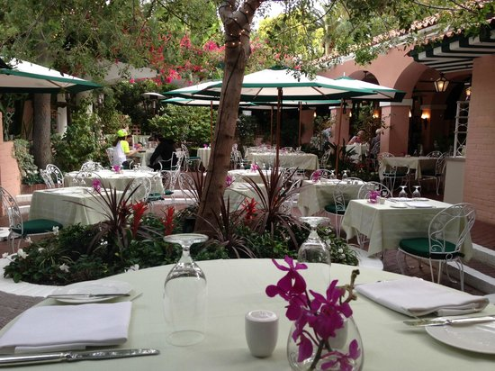 The Outside Patio Of The Polo Lounge