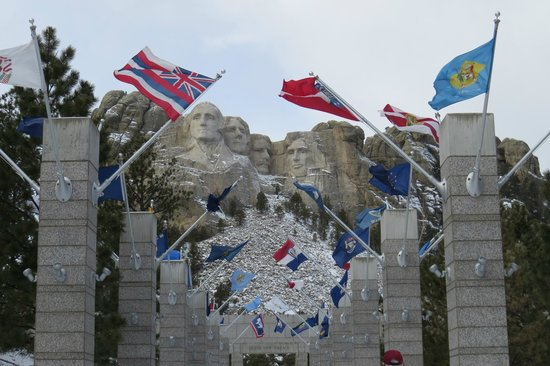 56 flags from all U.S. states and territories fly at Mount Rushmore National Monument, South Dakota. This photo of Mount Rushmore National Memorial is courtesy of TripAdvisor.