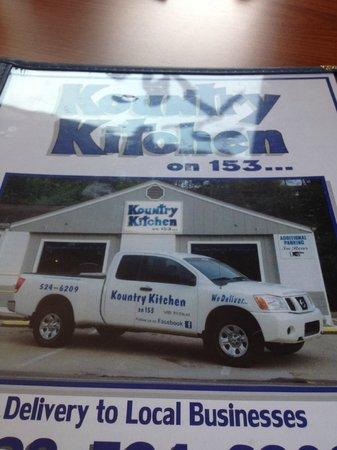 Menu  Picture of Kountry Kitchen on 153 Franklin