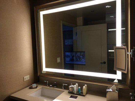 Bathroom with tv in mirror  Picture of Omni Dallas