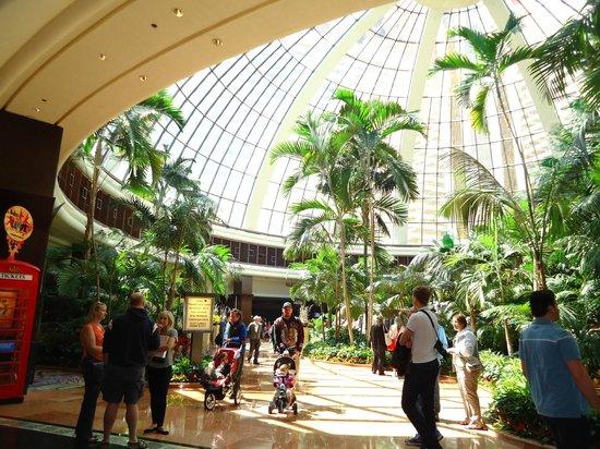 Inside the atrium  Picture of The Mirage Hotel  Casino