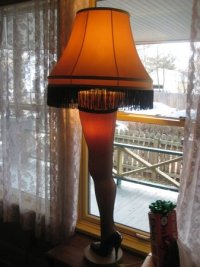 Leg lamp in the front window - Picture of A Christmas ...