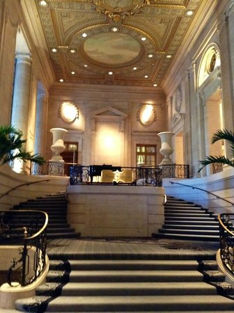 Picture of the stairway leading to the Normandie Lounge  Hilton Chicago Chicago  TripAdvisor
