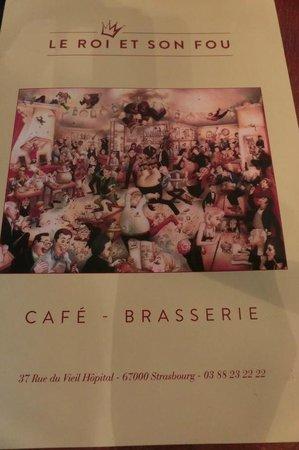 Le Roi Et Son Fou : Schöne, Karte, Picture, Restaurant, Strasbourg, Tripadvisor