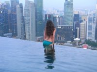infinity pool on the roof - Bild von Marina Bay Sands ...