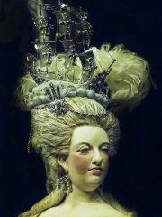 closeup of queen marie antoinette