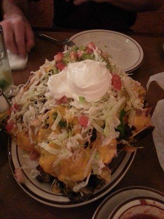 small nachos very large