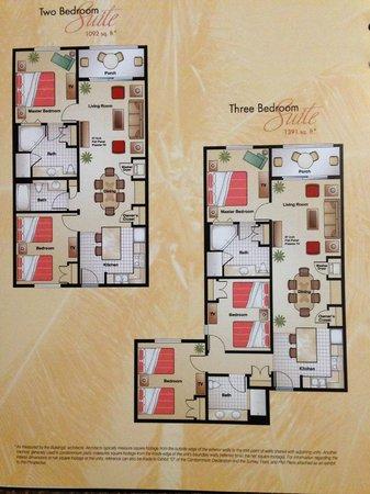 Planta dos apartamentos de 2Q e 3Q  Picture of Floridays Resort Orlando  TripAdvisor