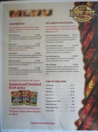 Menu 2 - Picture of Fire Pit BBQ Smokehouse, Golden ...