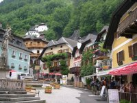 Houses built into the mountains in Hallstatt - Picture of ...