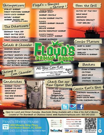 Floyd39s Shrimp House Fort Walton Beach Menu Prices