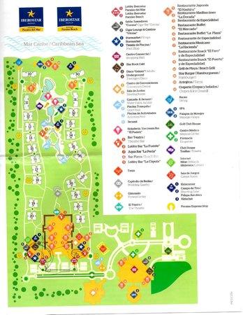 Del Mar Amp Beach Resorts Map Picture Of Iberostar Paraiso