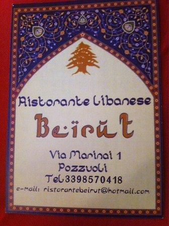 Locandina  Foto di Ristorante libanese Beirut Pozzuoli  TripAdvisor