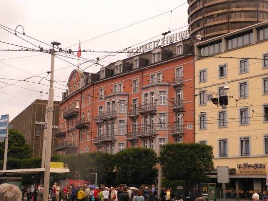 Aussenansicht Picture Of Hotel Schweizerhof Basel