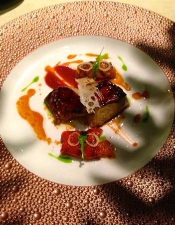Recette Foie Gras Joel Robuchon : recette, robuchon, Canard, Grilled, Gras,, Pepper, Confit, Acacia, Honey, Picture, Robuchon,, Vegas, Tripadvisor