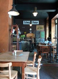 Unique bar stools! - Picture of Schwarze Pumpe, Berlin ...