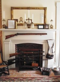 The Hawkens Rifle hanging above fireplace - Picture of ...