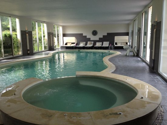 Espace piscine interieur  Picture of Hotel Le Manoir de la Poterie  Spa Cricqueboeuf